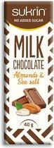 Sukrin Suikervrije Melkchocolade - Almonds & Sea Salt