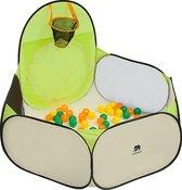 DERYAN Luxe Pop Up Kindertent - Speeltent voor Kinderen - Basketbal Ballenbak met 45 ballen