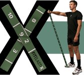 FITELASTIX - Premium Weerstandsband Stof - Alles in 1 - Resistance Band - Full Body - Sport Elastiek Fitness - Fitness Elastiek - PWRXFIT Groen