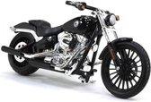 Harley Davidson Breakout 2016 (Zwart) 1/18 Maisto - Modelmotor - Schaalmodel - Model motor