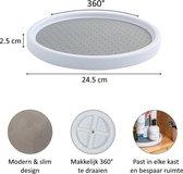 Draaiplateau antislip - Lazy susan - Kruidenrek - Keukenkast organizer - 360° draaischijf - Rond - 25 cm diameter