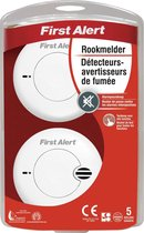 First Alert SA702CE Rookmeld Compact Duo 2  x  Aaa