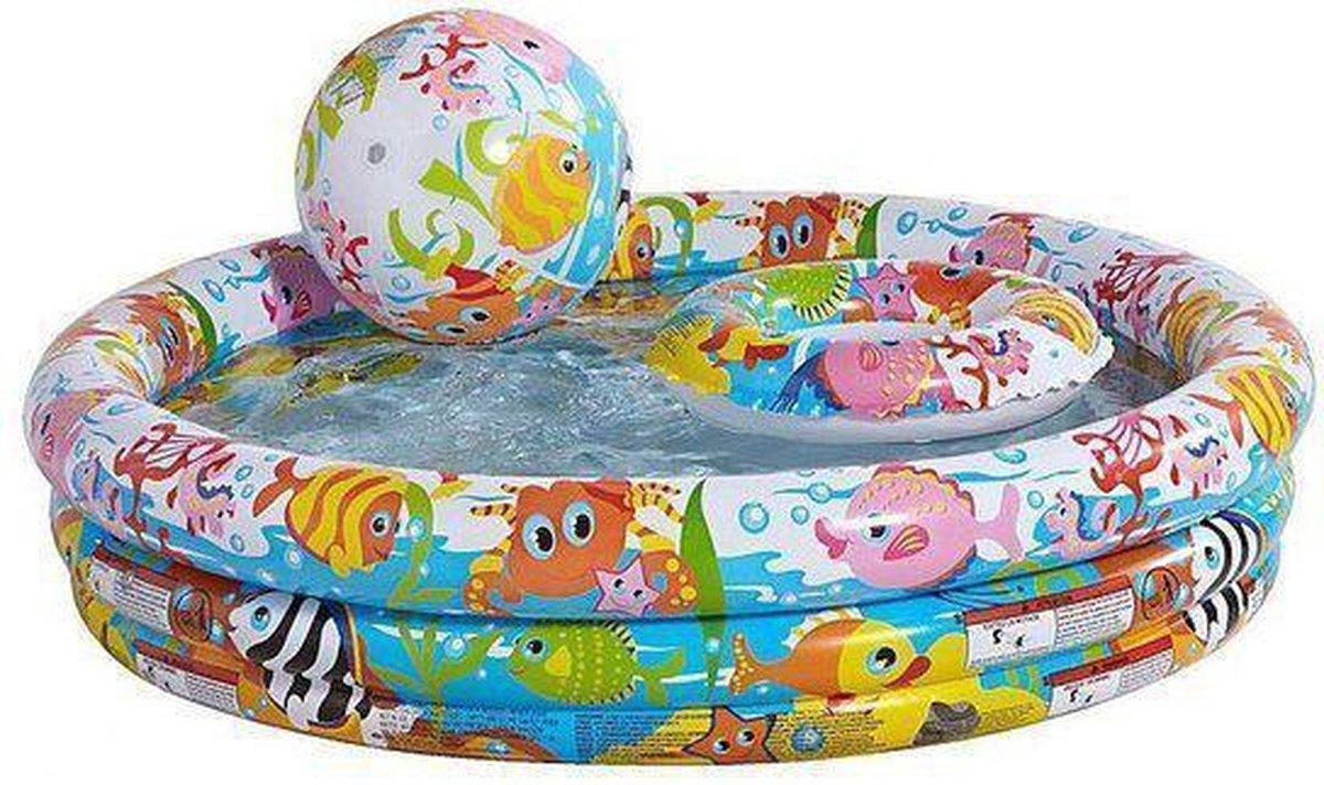 Bestway Kinderbad 132 x 28 cm met strandbal en zwemring