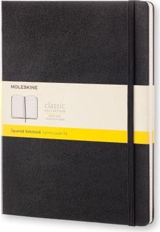 Moleskine Classic Notitieboek Hard Cover - XL - Zwart - Ruiten
