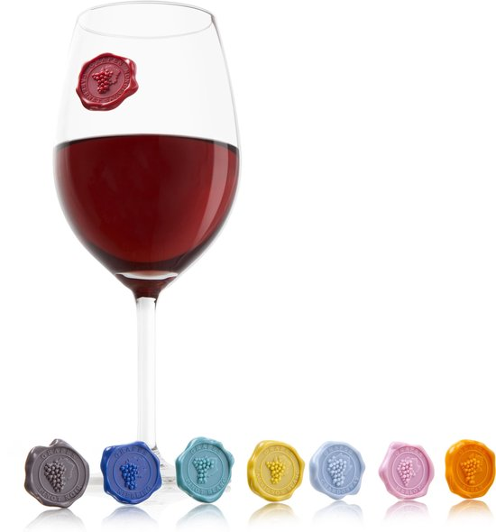 Vacu Vin Glas Markers Classic Grapes