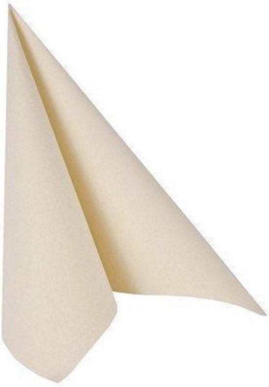 Papstar Servetten Royal Collection servetten creme 40 x 40 cm