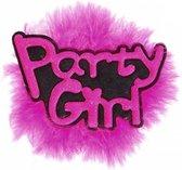 Roze vrijgezellen broche Party Girl