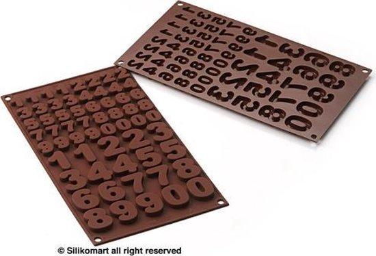 Silikomart Chocoladevorm Cijfers
