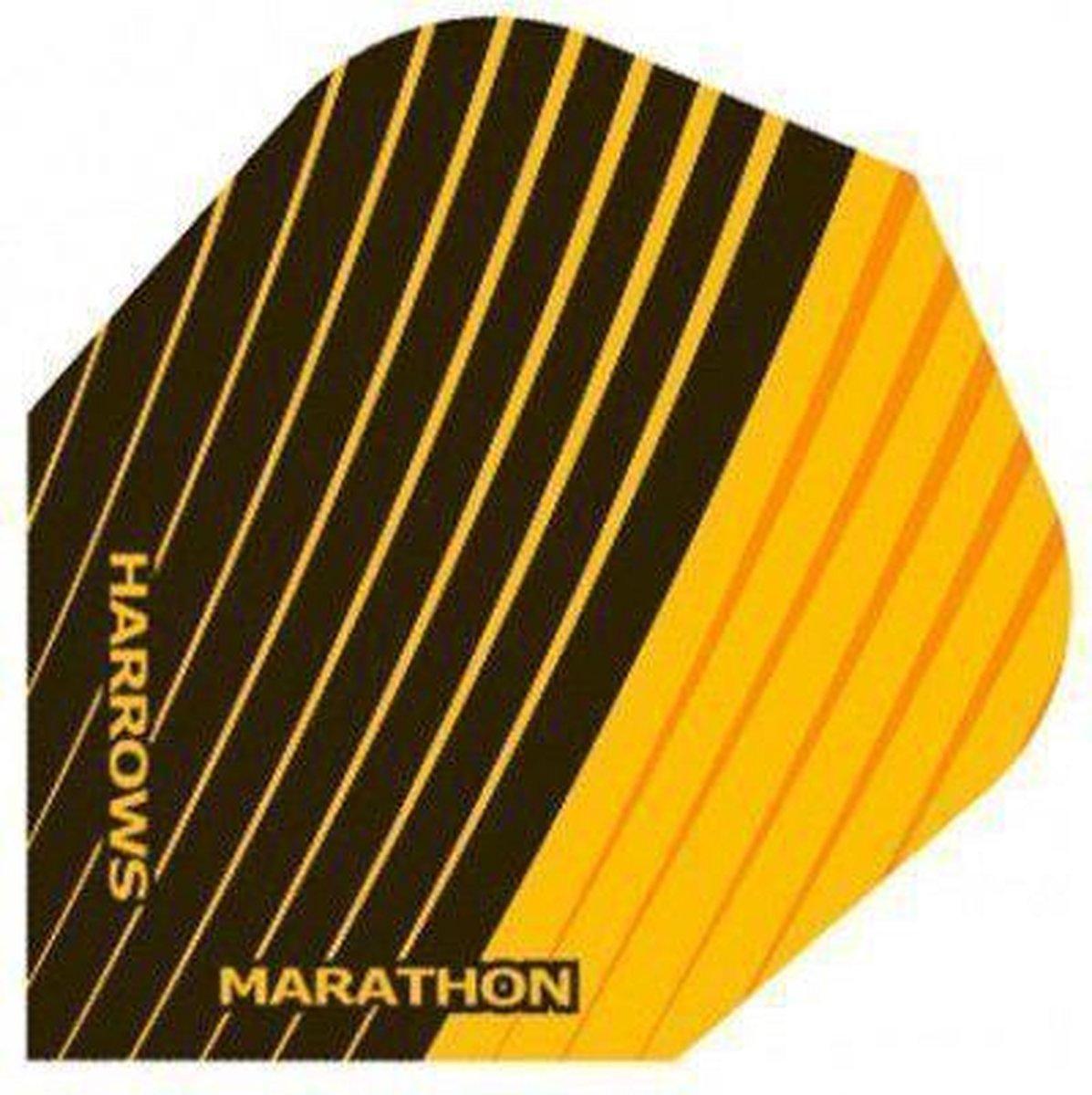 Harrows darts Flight 1525 marathon zwart geel streep 3 stuks