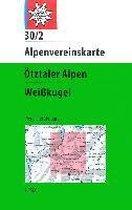 DAV Alpenvereinskarte 30/2 Ötztaler Alpen Weißkugel 1 : 25 000 Wegmarkierungen