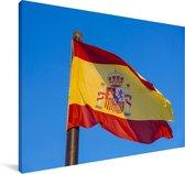De nationale vlag van Spanje Canvas 30x20 cm - klein - Foto print op Canvas schilderij (Wanddecoratie woonkamer / slaapkamer)