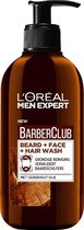 L'Oréal Paris Men Expert L'Oréal BarberClub Beard + Face + Hair Wash 200ml