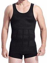 ForDig Figuur Corrigerende Shirt voor Mannen  - Hypoallergene Slim - Zwart - Maat M