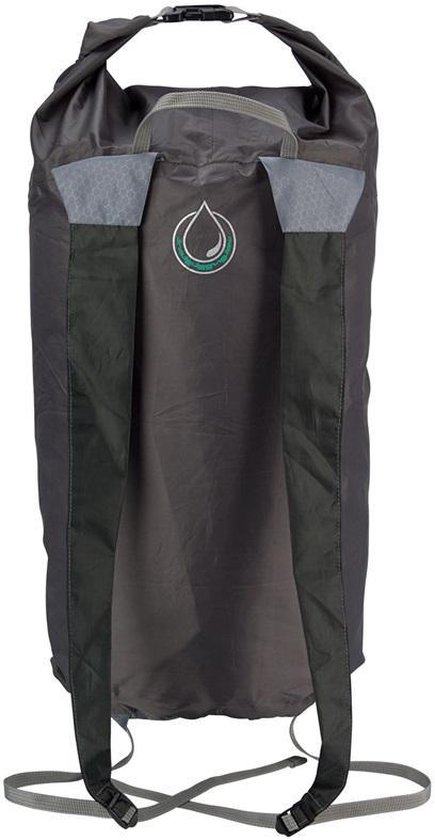 Rugzak All Weather - Compacte Rugtas 20 L - Bag in a Sac - Lichtgewicht Waterproof Opvouwbaar - Antraciet / Groen - Merkloos