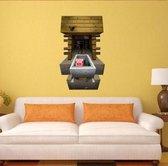 3D Game Plakposter / Muurposter Gebaseerd Uit Minecraft Game - Zelfklevende Poster
