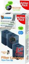 Superfish Aquaflow 100 Filter Crystal Clear Cartridge - Filtermateriaal - 2+1 stuks