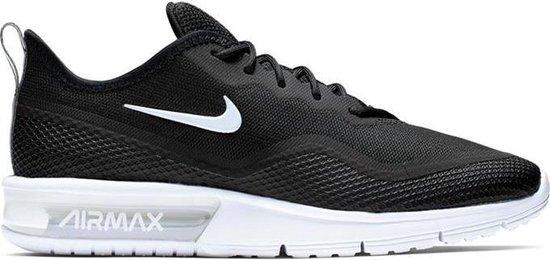 Nike Air Max Sequent 4.5 - Dames - Zwart - Wit - Sneaker - Sportschoen -  Maat 36