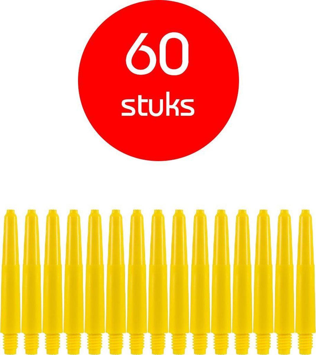 Dragon Darts - darts shafts - 20 sets (60 stuks) - short - geel - dart shafts - shafts