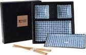 Tokyo Design Studio Sushi Servies Set met elegante bloemenprint - 6-delig - 2-persoons