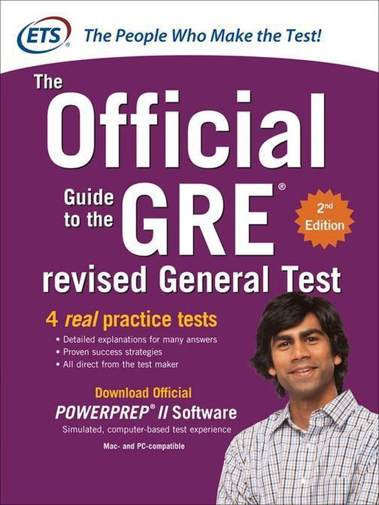 Boek cover GRE The Official Guide to the Revised General Test, Second Edition van Educational Testing Service (Onbekend)