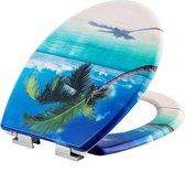 TecTake - WC bril - toiletbril - soft close - premium - strand- 402261