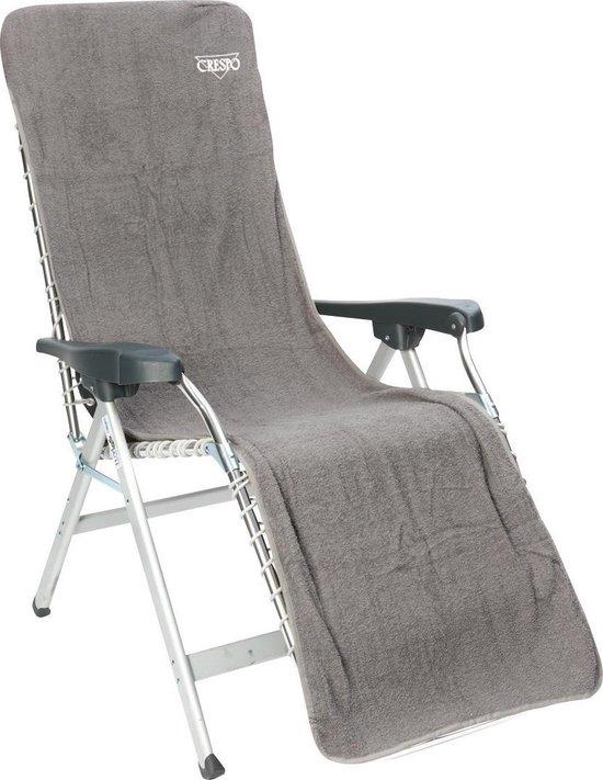 Crespo Badstof Stoelhoes L - Relaxstoelen - 180x58 Cm - Grijs