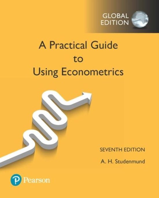 Boek cover A Practical Guide to Using Econometrics, Global Edition van A. H. Studenmund (Paperback)