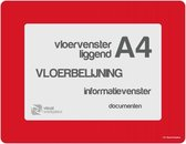 Vloervensters A4 (Rood)