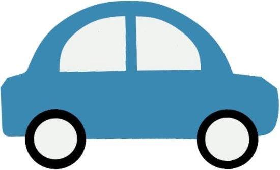 Donker blauwe auto's muurstickers | 5 stuks