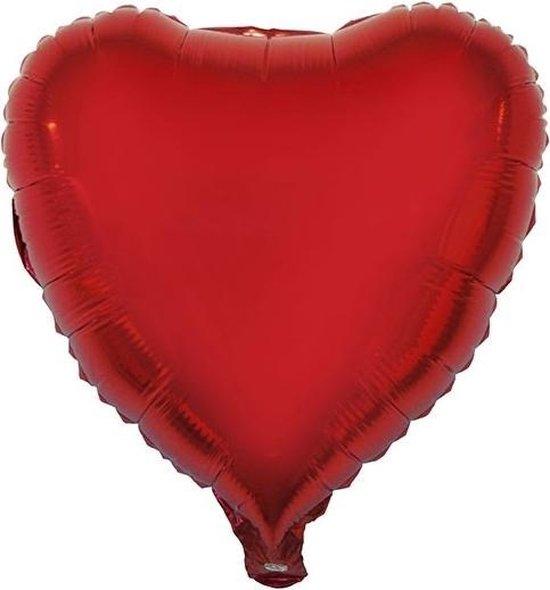 Folie ballon hart rood 52 cm - Valentijn / Bruiloft ballonnen