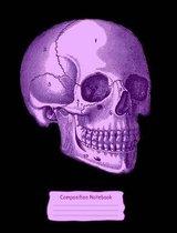 Purple Skull Composition Notebook