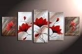 Magnolia 2 - 5 delig canvas 150x70cm Handgeschilderd