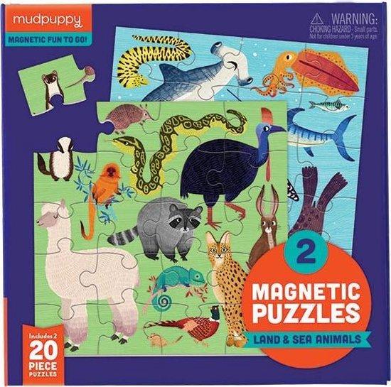 Afbeelding van het spel Mudpuppy Magnetic Fun/Land & Sea Animals