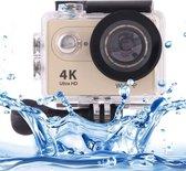 H9 4K Ultra HD1080P 12MP 2 inch LCD scherm WiFi Sport Camera  170 graden brede hoeklens  30m Waterdicht(Goud)