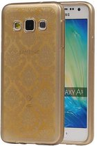 Samsung Galaxy A3 Hoesje TPU Paleis 3D Backcover Goud