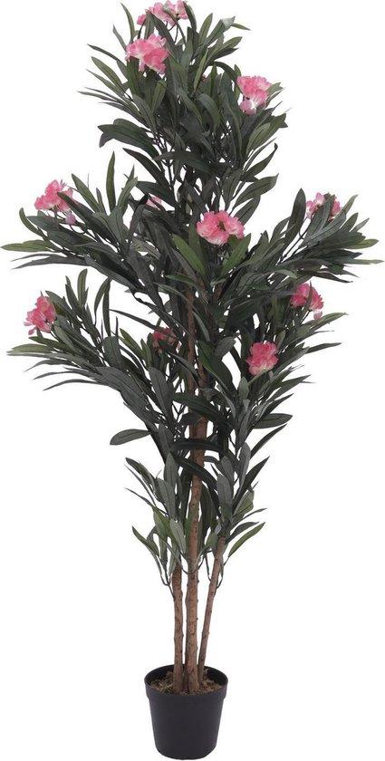 Europalms kunstplant - Oleander kunstboom - roze - 150 cm