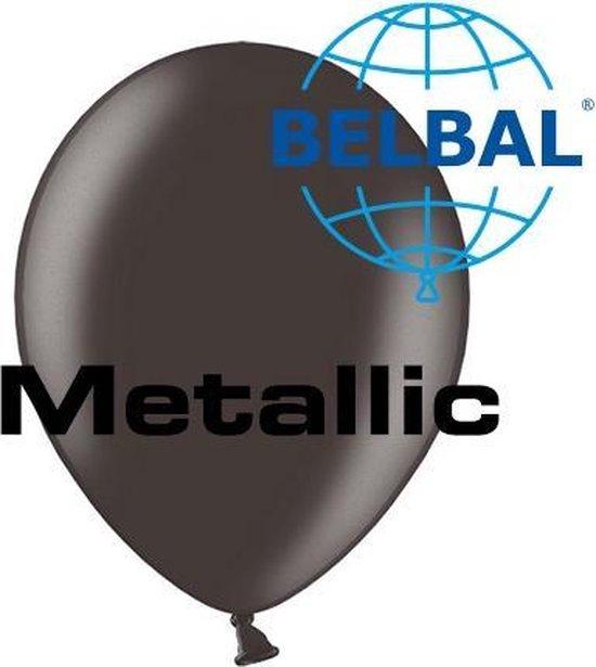 Ballonnen Metallic zwart D5 11 cm 100 stuks
