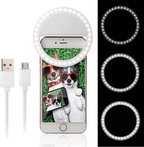 Selfie Ring Light Clip - Wit