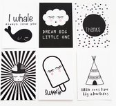 Fabs World Postcard set Black&white