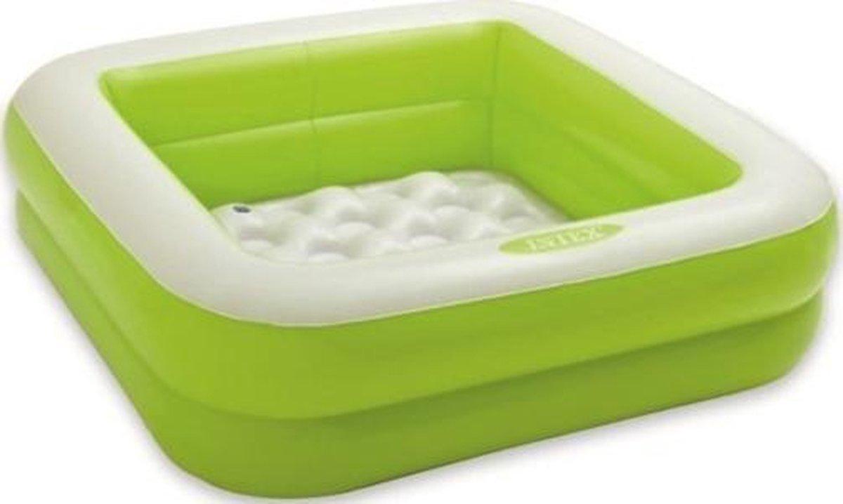 Intex opblaaszwembad Play Box 85 x 85 x 23 cm groen