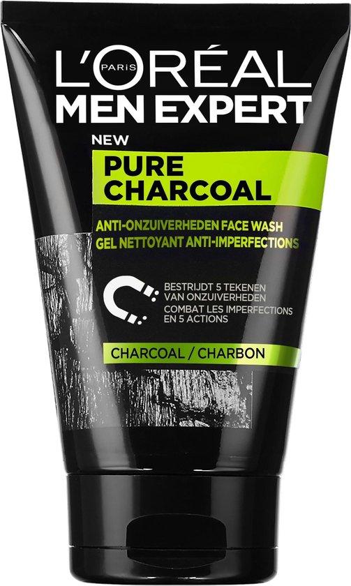 L'Oréal Paris Men Expert Pure Charcoal Gezichtsreiniger - 100 ml - Vette huid en puistjes