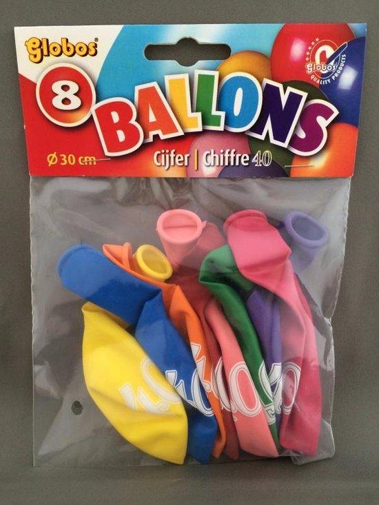 40 jaar ballonnen 8 stuks