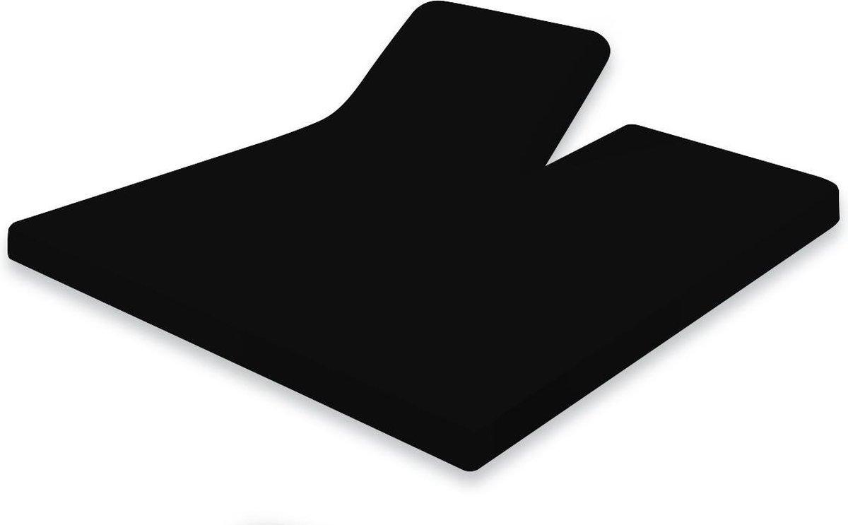 Elegance Splittopper Hoeslaken Jersey Katoen - 180x200cm - zwart - Split Enkel - Single Split