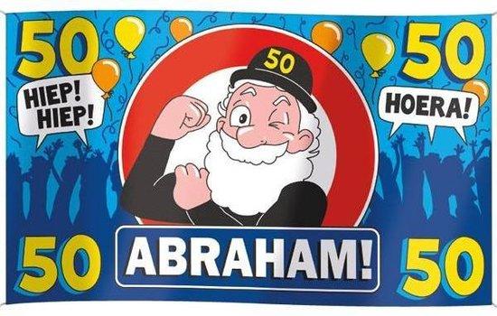 Wonderlijk bol.com | Paperdreams - Vlag - Abraham, 50 jaar - 150x90cm PG-24