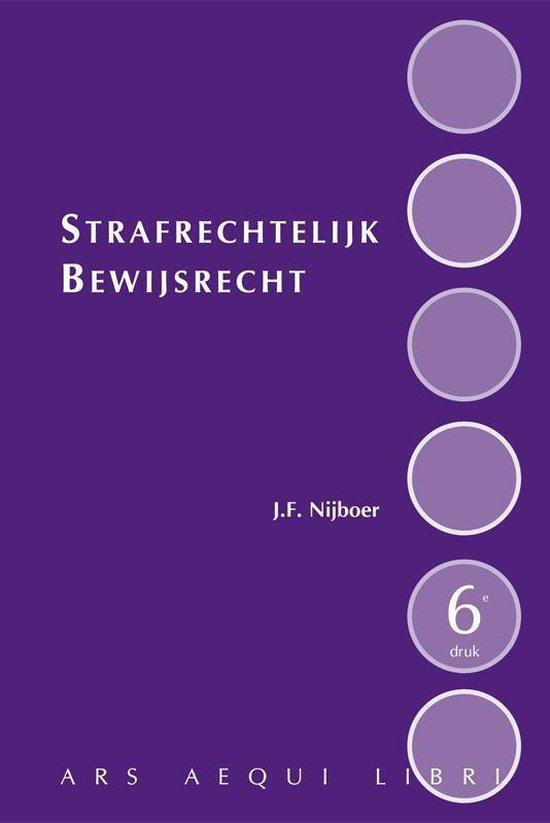Ars Aequi libri - Strafrechtelijk bewijsrecht - J.F. Nijboer pdf epub