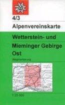 DAV Alpenvereinskarte 04/3 Wetterstein Mieminger Gebirge Ost 1 : 25 000
