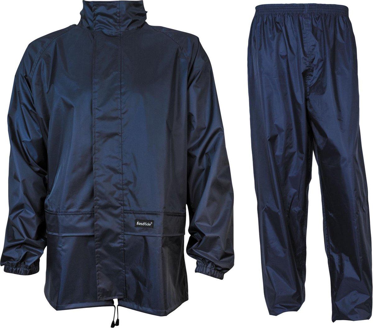 Fastrider Regenpak Senior Regenpak - Maat M  - Mannen - blauw - FastRider