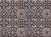 Crearreda - Achterwand Keukensticker – Azulejos - Zwart - 65 x 47 cm