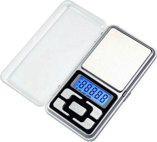 Mini Precisie Weegschaal - 0.01 tot 200 Gram - Zilver