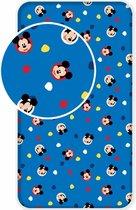 Disney Mickey Mouse Hello - Hoeslaken - Eenpersoons - 90 x 200 cm - Blauw